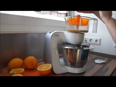 Bosch MUM5 Zitruspresse Orangensaft MUM58W56DE - YouTube
