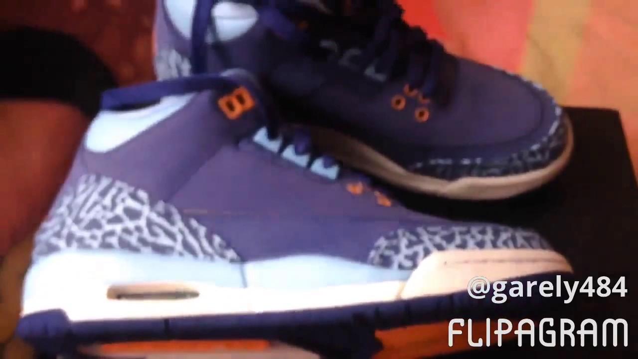 Air Jordan 3 Retro GG Girl/'s Basketball Shoes Dark Purple Dust//Atomic Pink