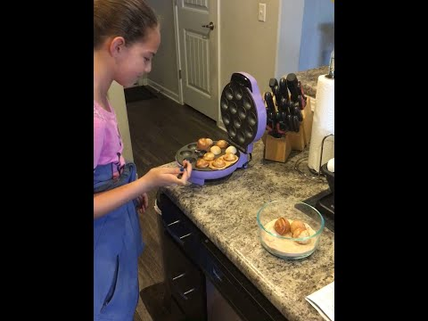 How To Make Cinnamon Sugar Donut Holes With Cake Pop Maker
