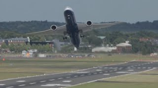 Amazing Boeing 787-9 Dreamliner Impressive flying display at Farnborough Airshow 2014