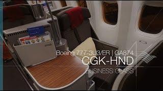 Garuda Indonesia Boeing 777 Business Class | GA874 CGK-HND