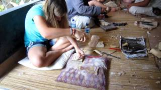 Lesson Woodcarving Pondok Pekak Library Ubud Bali