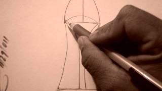Back of high heel illustration
