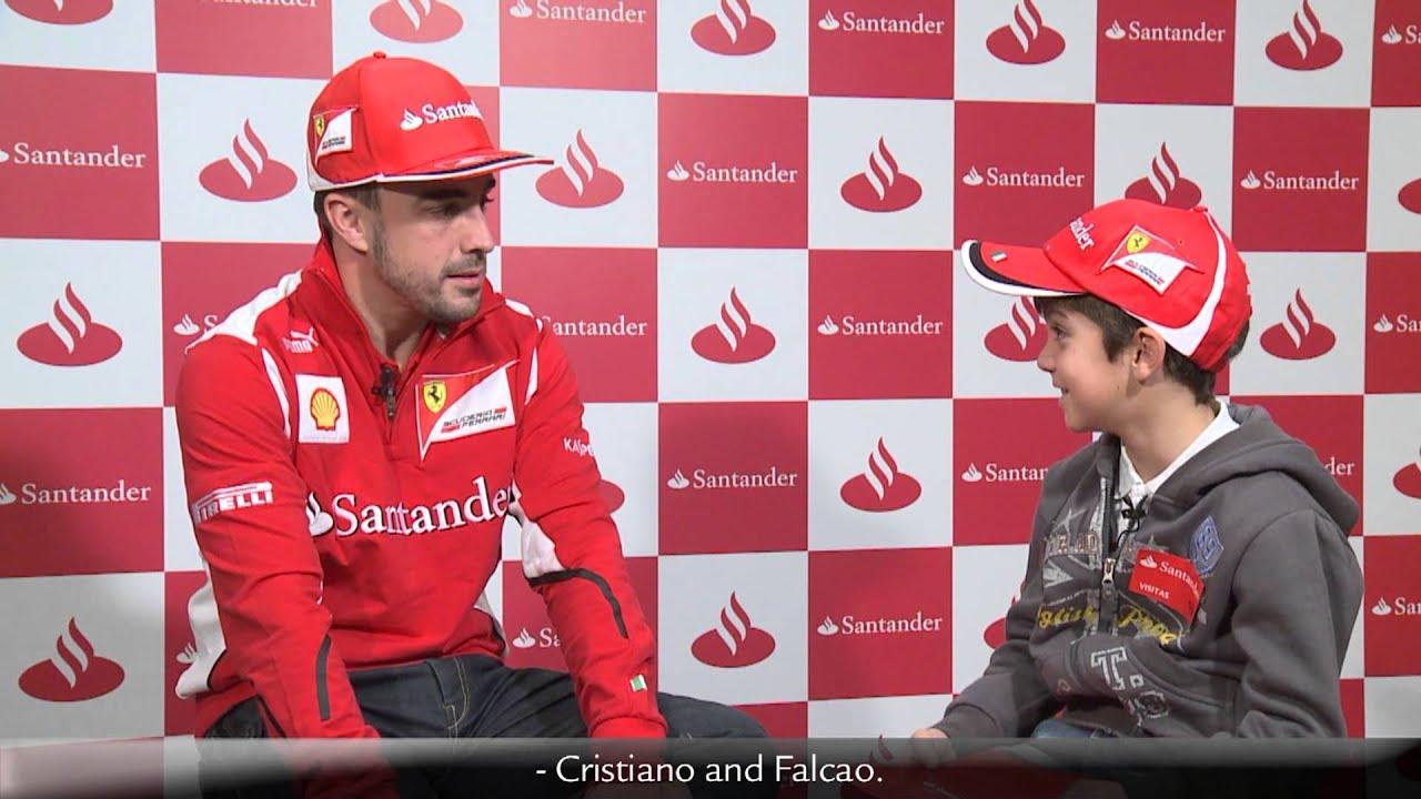 F1 2012 - Ferrari - A kid interviews Fernando Alonso ...