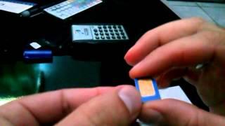 Como cortar o chip de celular simples facil e rapido para virar um micro sim