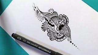 henna designs drawing easy mehndi doodle drawings paintingvalley