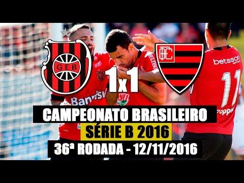 G.E.Brasil 1x1 Oeste - Série B 2016 - 12/11/2016