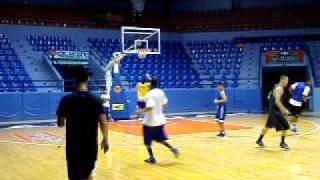 RP National Basketball Team to 2011 SEA Games practice