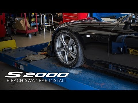 S2000 Suspension: E1 - Initial Alignment Specs & Eibach Sway Bar Install