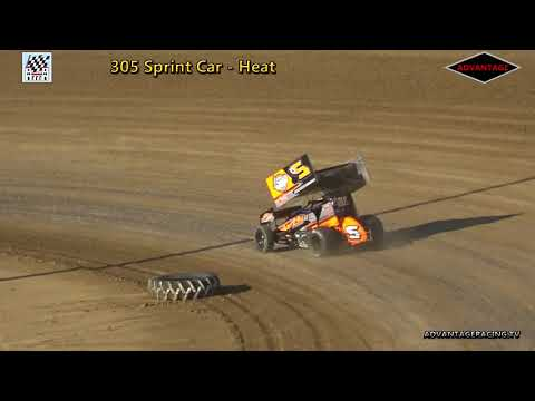 305 Sprint Car Heat/Feature - Clay County Speedway - 7/8/18