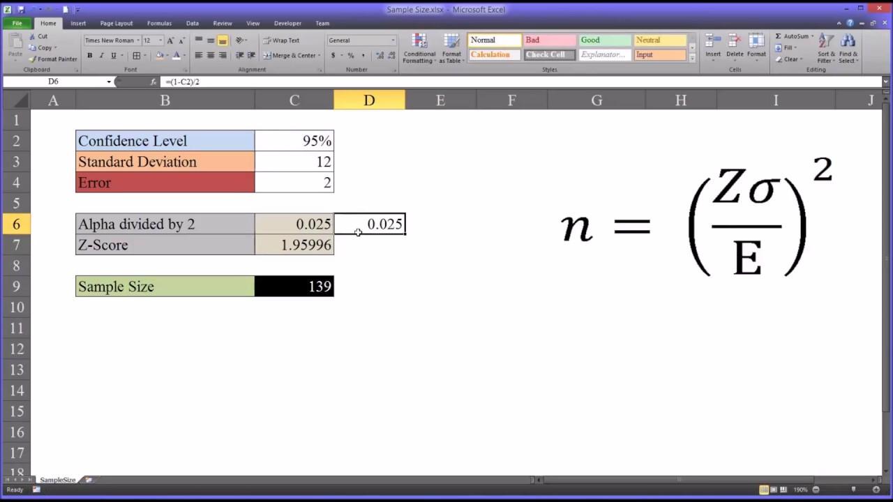Sample size calculation, determination, simplified yamane formula.