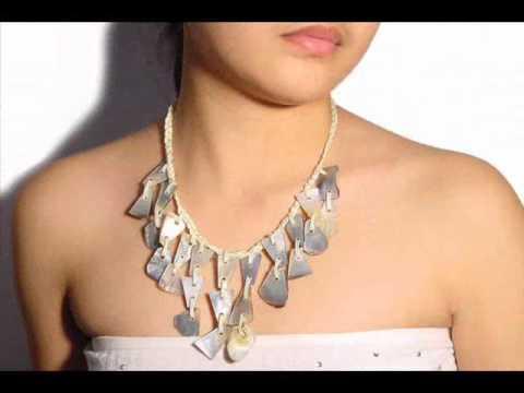 Conchiglie collana gioielli naturale mare conchiglie - Como hacer conchas finas ...