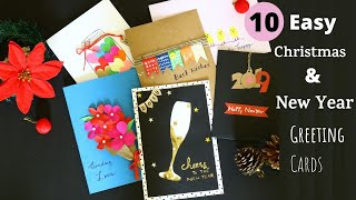 #CardTutorial #greetingcards #HolidayCards 10 Card Making Ideas  | Aloha Crafts