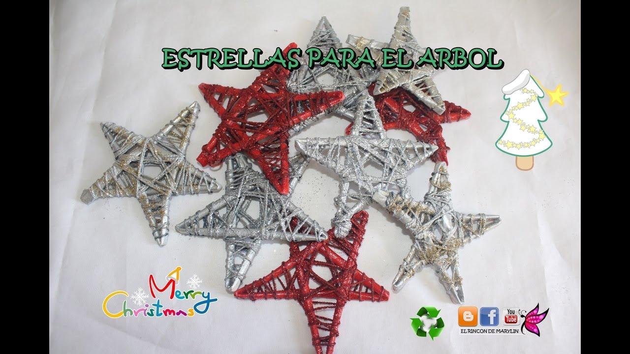 Estrellas de papel para el arbol de navidad youtube - Estrella para arbol de navidad ...