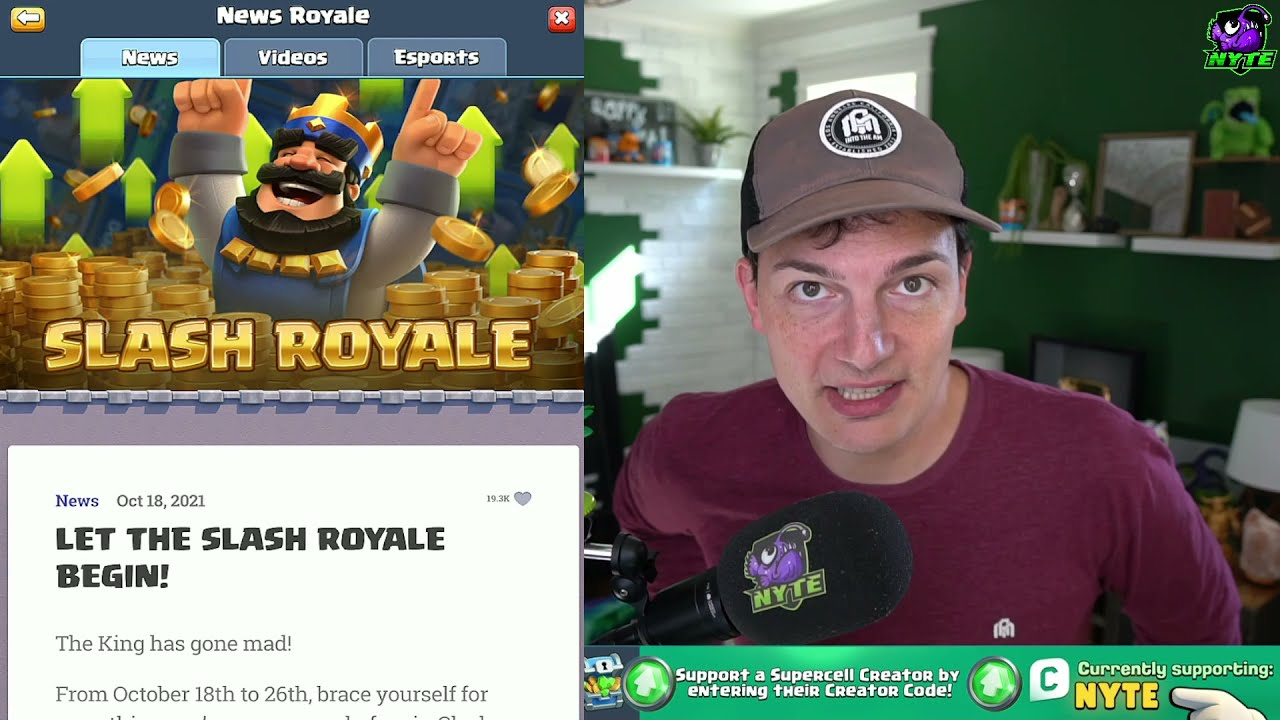 Download Slash Royale is here! Playing the new Golden Mirror Challenge in Clash Royale