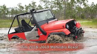 Mahindra Roxor Driving Through Deep Water With Dirt Legal Snorkel Kit