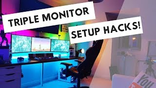 Triple Monitor Setup Hacks you HAVE to try!