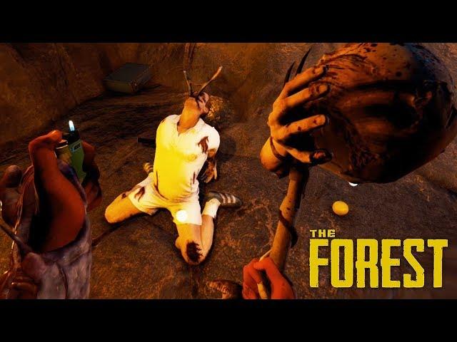ENTRAMOS EN LA CUEVA MAS GRANDE Y ENCONTRAMOS ESTO! The Forest #16