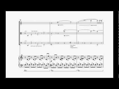 Gianluca Cascioli Piano Quartet (dedicated to Quartetto Anthos) I.Mov