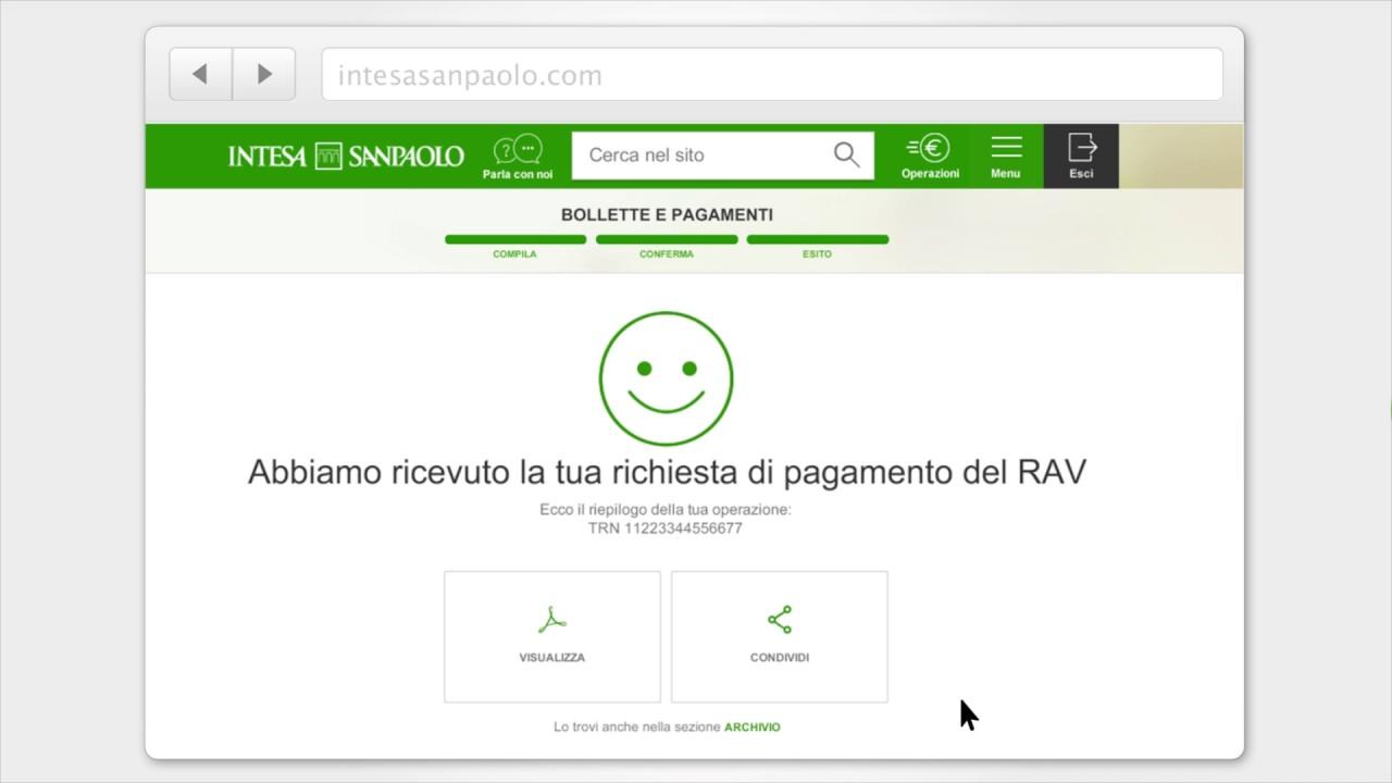 Scopri Come Pagare Mav E Rav Internet Banking Intesa Sanpaolo