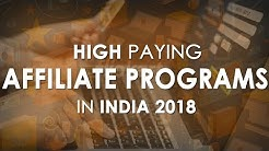 Best Affiliate programs 2018 India | Top Five Indian Affiliate Programs to Join in 2018 | Hindi 💰