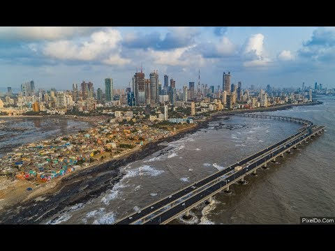 Worli Skyline - Mumbai Drone Video