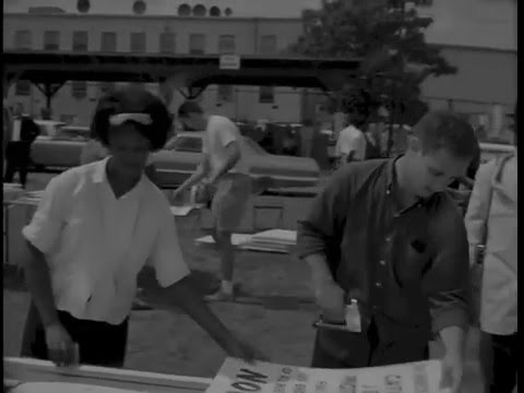 Historic Civil Rights March - Restored Video Footage of Civil Rights Movement