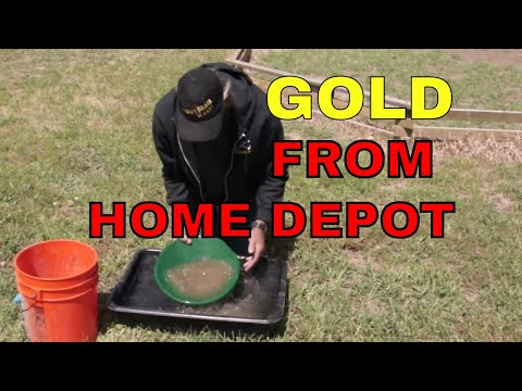 Getting Gold out of sand from Home Depot, - A to Z prospecting tricks