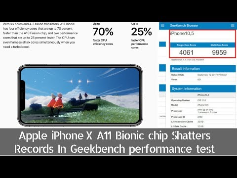 Download Youtube: Apple iPhone X A11 Bionic Chip Shatters Records In Geekbench Performance Test