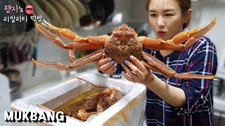 리얼먹방:) 대게 FLEX (ft. 대게라면)ㅣSNOW CRAB (ft. Crab Ramen)ㅣREAL SOUNDㅣASMR MUKBANGㅣEATING SHOWㅣ