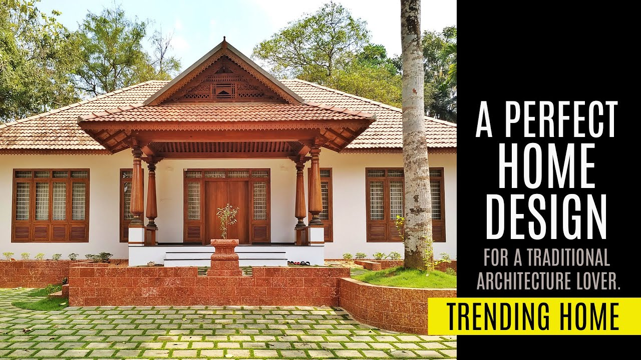 Perfect Traditional Home  Single Storey Design   Kerala Architecture   Modern Home   Vault & Walls