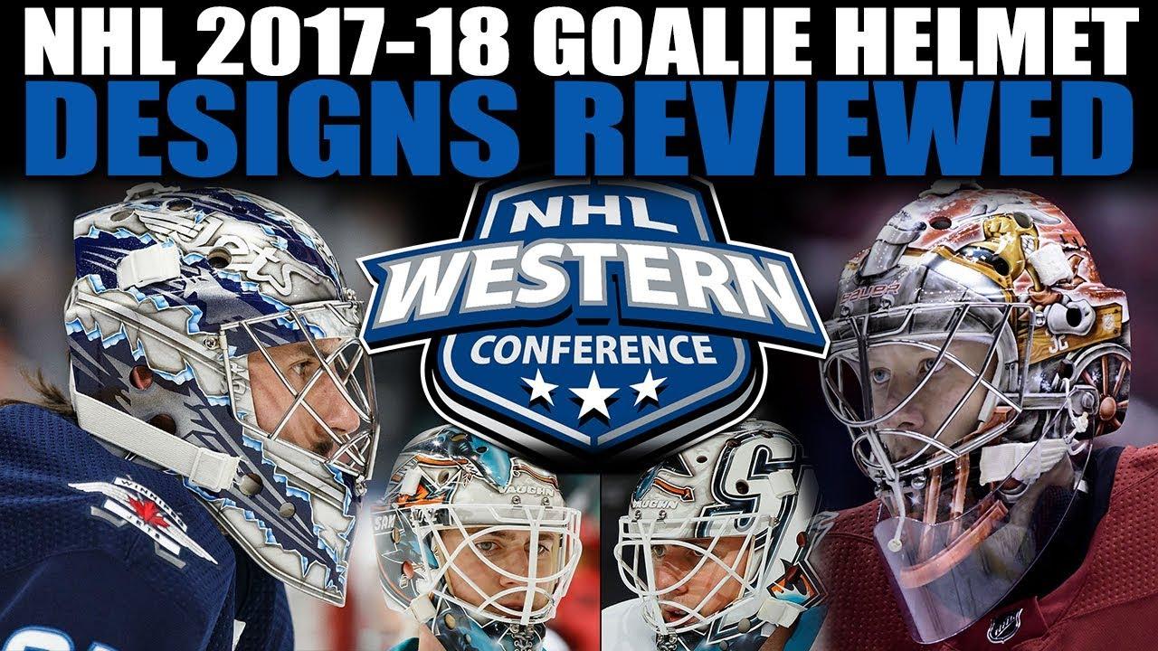 Nhl 2017 18 Goalie Helmet Designs Reviewed West Youtube