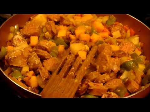 Butternut Squash With Sausage And Peppers