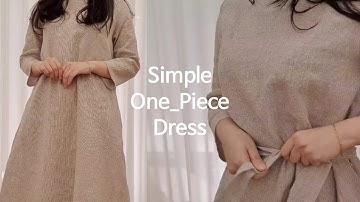 [Sewing Vlog] 심플한 원피스 만들기 :: Simple One-Piece Dress (Eng Sub)