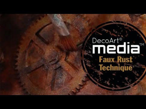 Create a Faux Rust Technique for Mixed Media