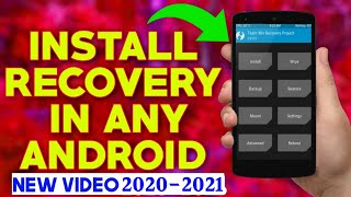 How To install Recovery in Any Android 2018-2019 || Phone Me Recovery Kese Install Karein