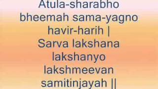 Vishnu Sahasranamam - For beginners