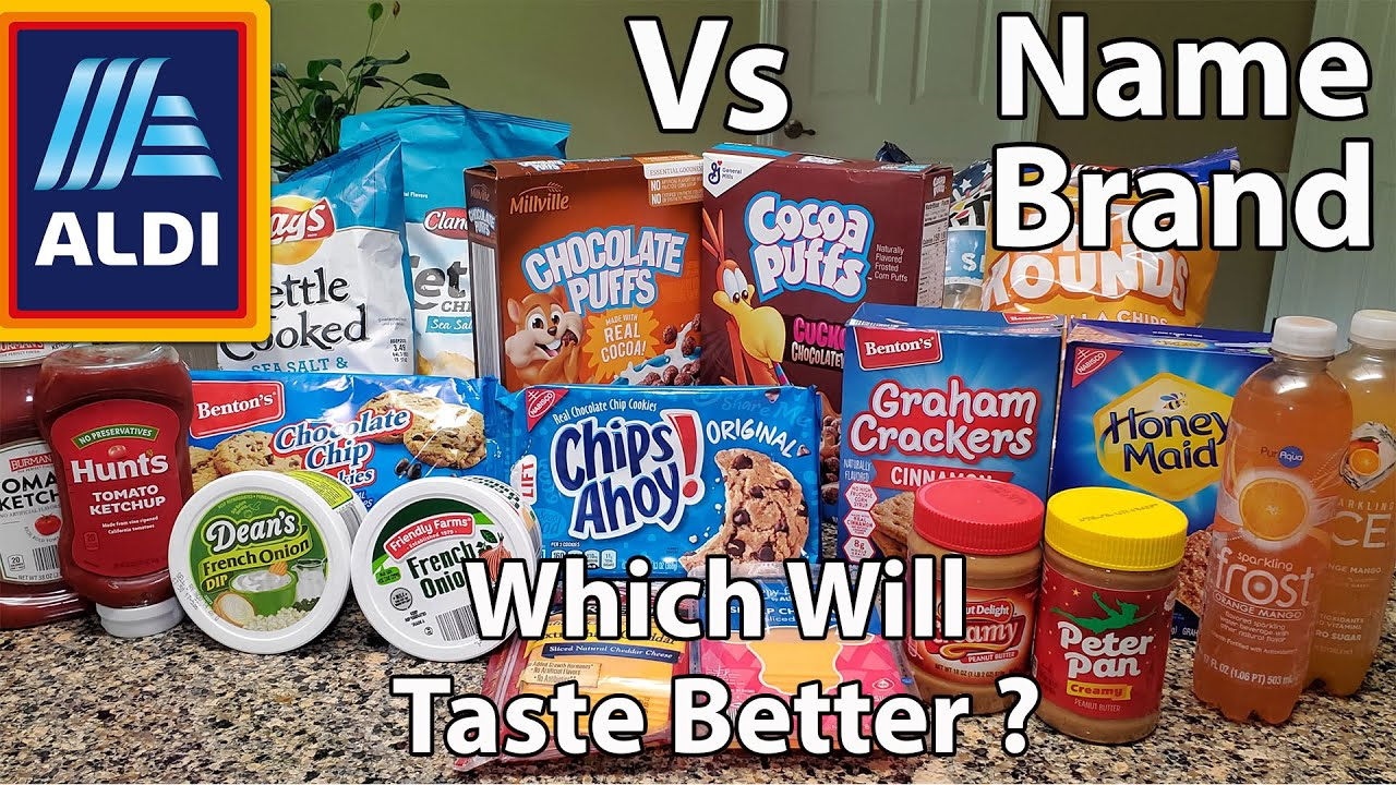 Aldi Vs Name Brand | Blindfold Taste Test With My Dad | First Reveal Of My Mom