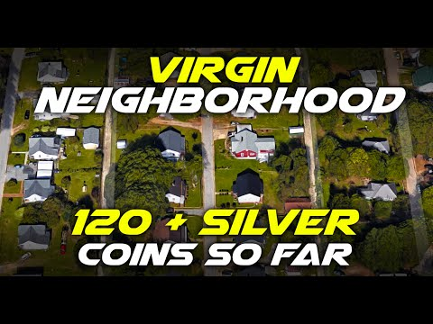 Over 120 Silver Coins Found Metal Detecting in One Neighborhood!!!!