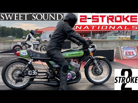 WORLD'S MOST POWERFUL TWO STROKE MOTORCYCLES MEET AT HIGH STAKES DRAG BIKE RACE! FULL 2 STROKE RACE!