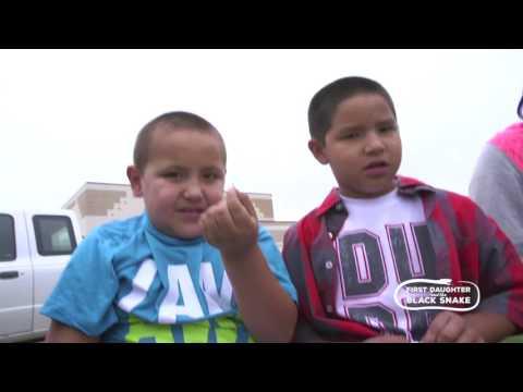 Pine Point School Kids Parching Wild Rice