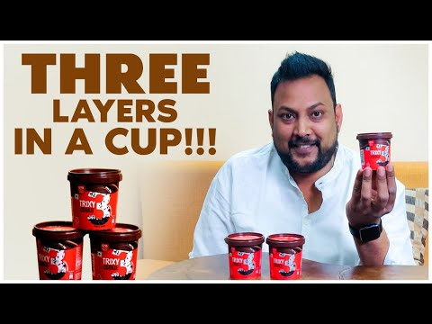 Kwality Walls Trixy Review | Three layers in a cup | Perfect Summer Dessert |Street Byte|Silly Monks