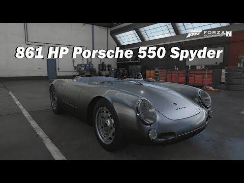 How Fast Will It Go? 1955 Porsche 550 Spyder (Forza Motorsport 7)