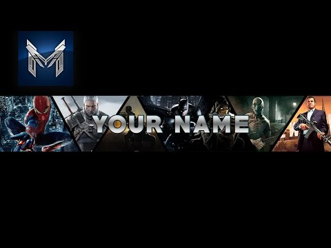 Youtube Gaming Banner Template Photoshop│Free Download FunnyCatTV - youtube banner template photoshop