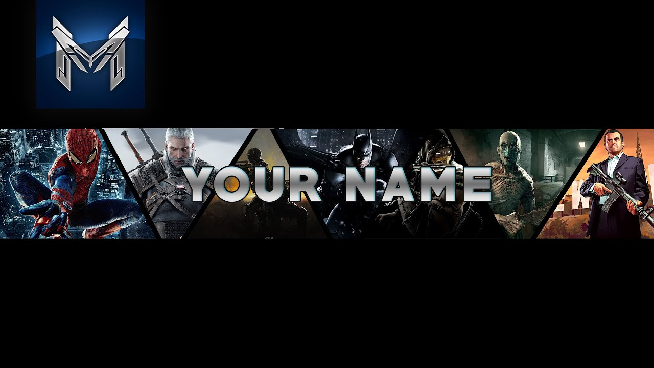 Gaming Youtube banner Template | Free Downland | Speed Art ...