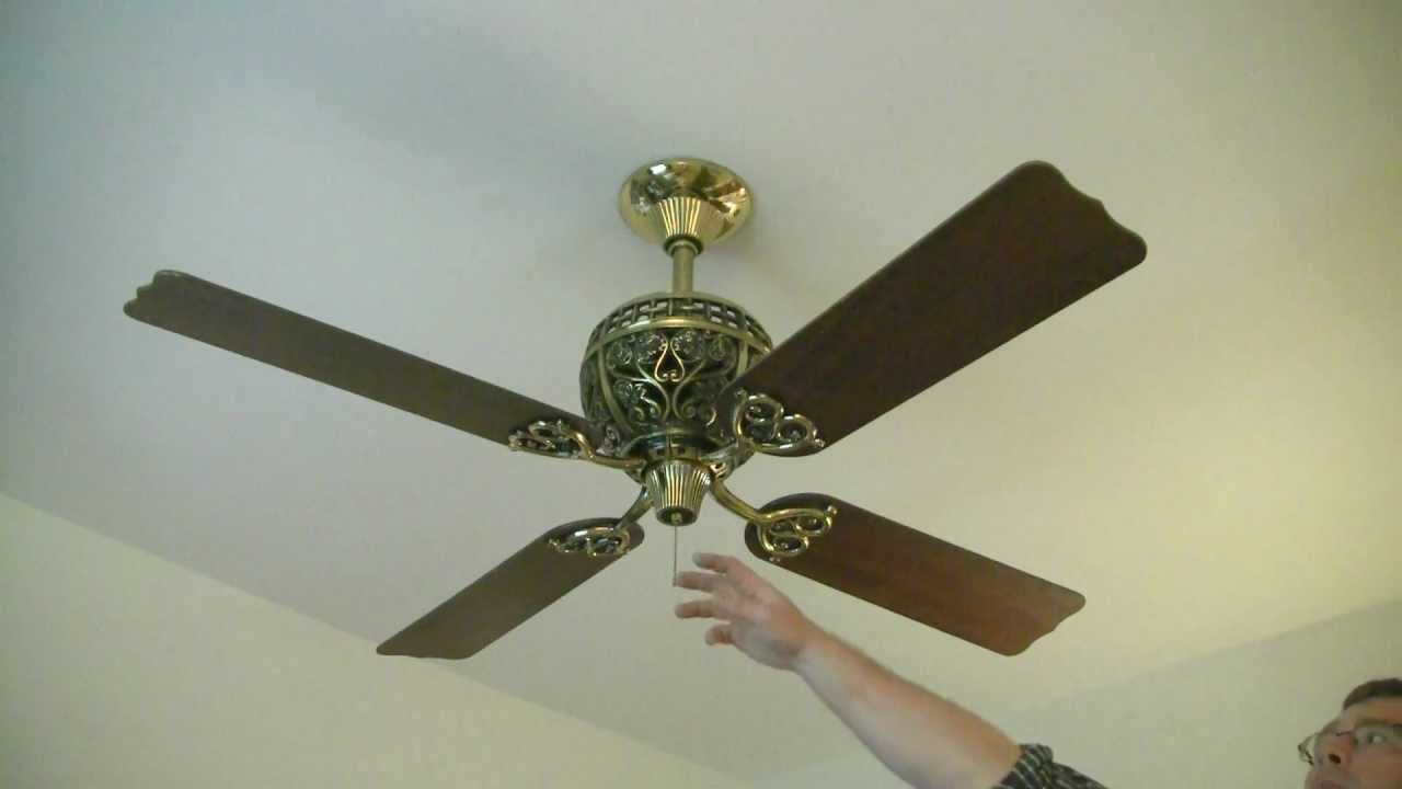 Hunter 1886 Ceiling Fan Youtube