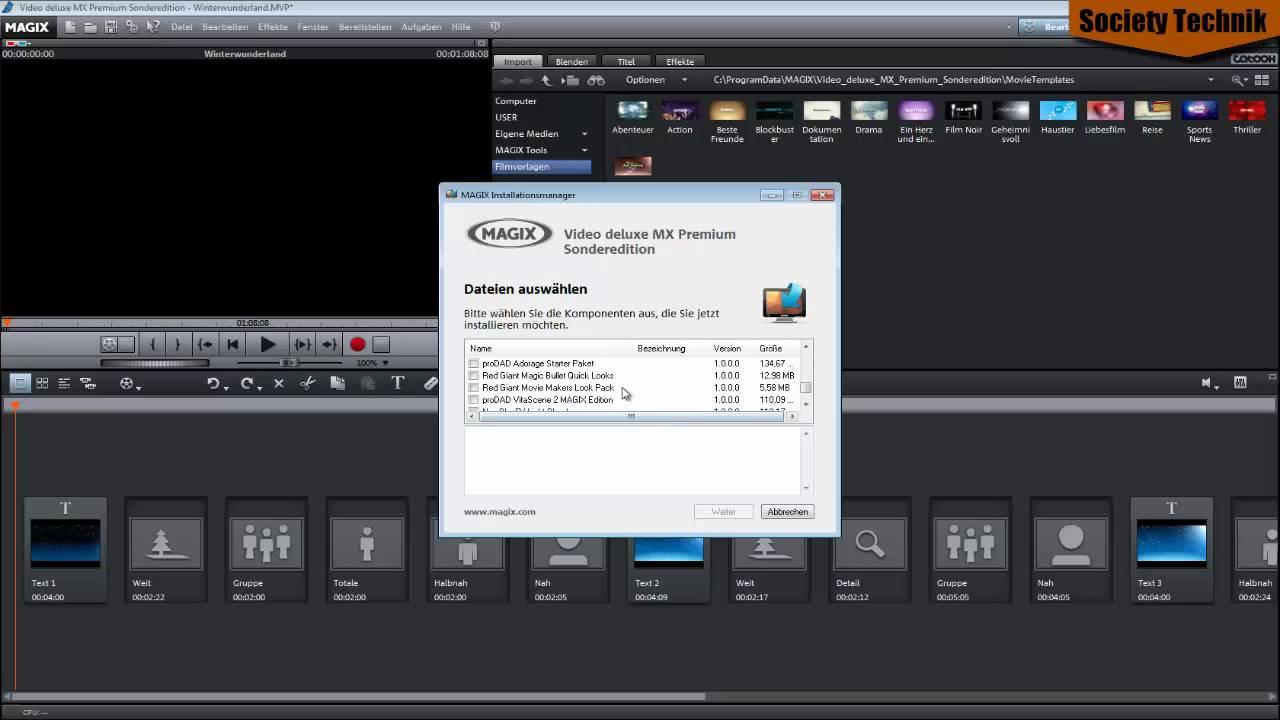 Tipps und Tricks: Magix Videodeluxe MX Vorlagen und Effekte ...