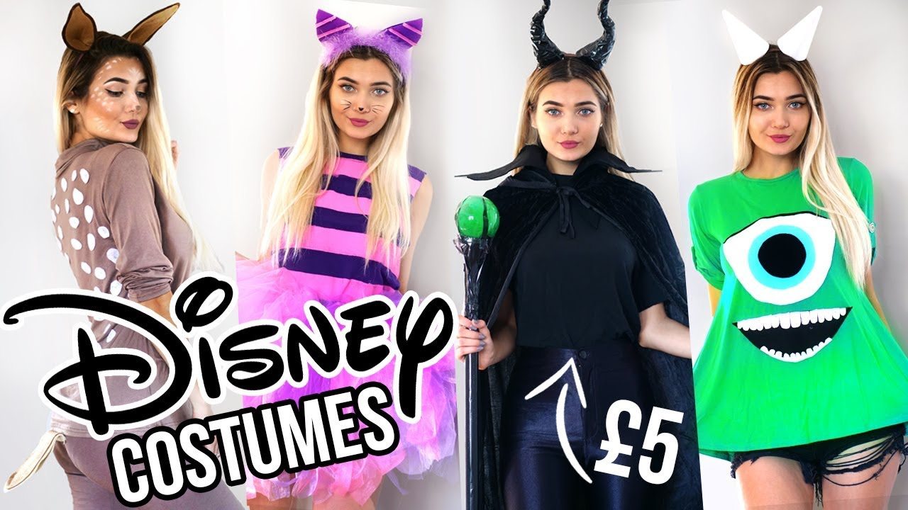 diy disney last minute halloween costume ideas! 🎃 - youtube