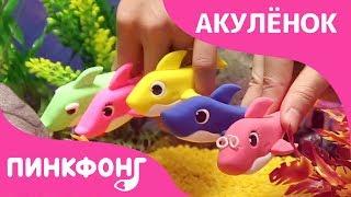 Акулёнок из Пластилина | Акулёнок  | Песни про Животных | Пинкфонг Песни для Детей