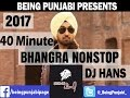 40 Minute Bhangra Mashup 2017 - Dj Hans | Non Stop Punjabi Dance Songs | New Year Special Megamix | video